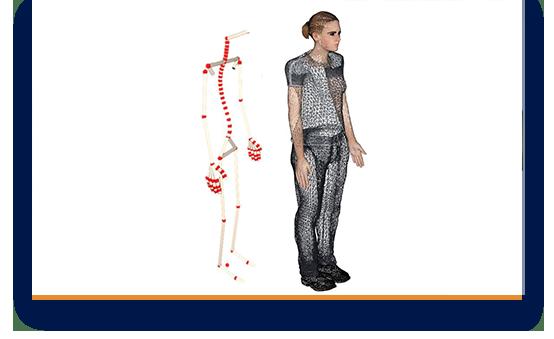 Biomechanisches Modell mit intelligenter Haltungsberechnung