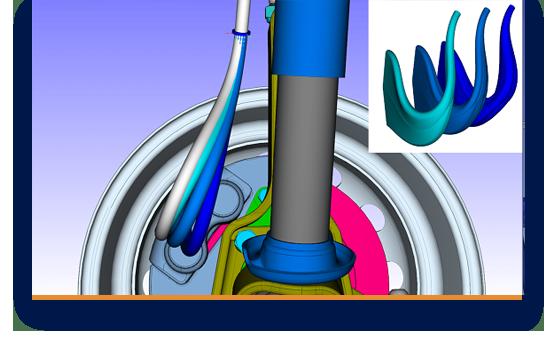 Dynamik-Simulation mit Dämpfungseigenschaften