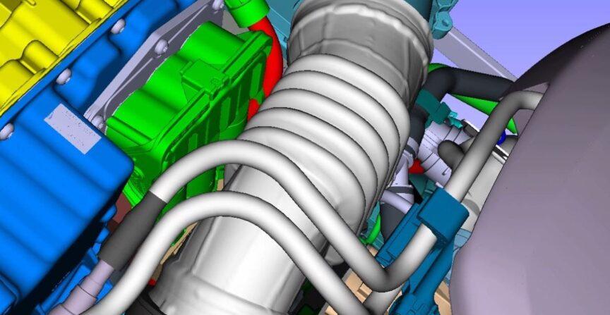 Faltenbalg-Analyse im Motorraum