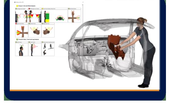 Initiale ergonomische Bewertung bei der digitalen Montageplanung